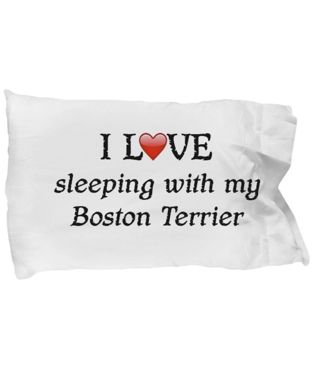 I Love My Boston Terrier Pillowcase - $9.75