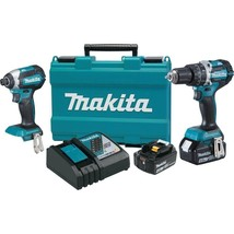 Makita 18-Volt LXT Lithium-Ion Brushless Cordless Hammer Drill and Impac... - $273.42
