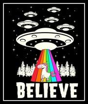 """4.5"""" BELIEVE UFO, Unicorn vinyl sticker. Alien fantasy decal for car, la... - $2.92"""