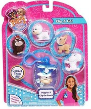 Puppy In My Pocket Collectible Figurines with Blue Pocket Pouch 6 Piece Set - $14.99