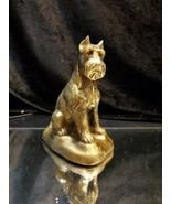 Scottish Terrier Banthrico coin bank dog solid brass figurine Chicago vt... - $25.73