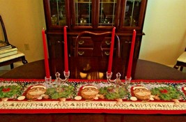 New 'Kitty Klaus' Christmas Kitty 72 inch Tapestry Table Runner - $18.80