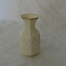 "Miniature Aynsley Bud Vase Camellia Cream pattern 3 1/2"" tall image 1"