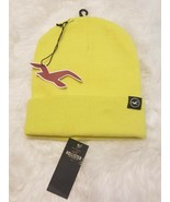 New HOLLISTER Knit Icon Beanie NWT Bright Yellow - $5.86