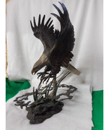 "Dennis Jones Pride and Passion Bald Eagle Franklin Mint Bronze 18"" T - $886.05"
