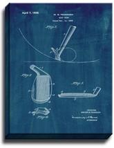 Golf Club Patent Print Midnight Blue on Canvas - $39.95+