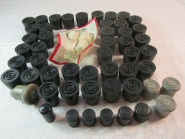 Lot of 56 Rubber Cane Tips, assorted, new & lightly used, also for Chair... - $50.00
