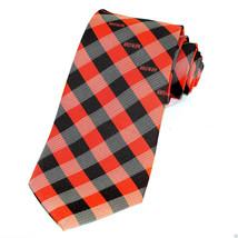 Cleveland Browns Mens Neck Tie NFL Football Logo Sports Fan Checks Brown... - $29.65