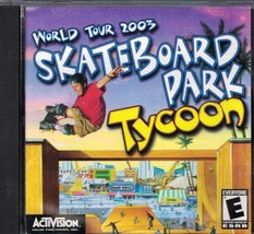SkateBoard Tycoon World Tour 2003 PC CD-ROM Rated E Activision - $3.95