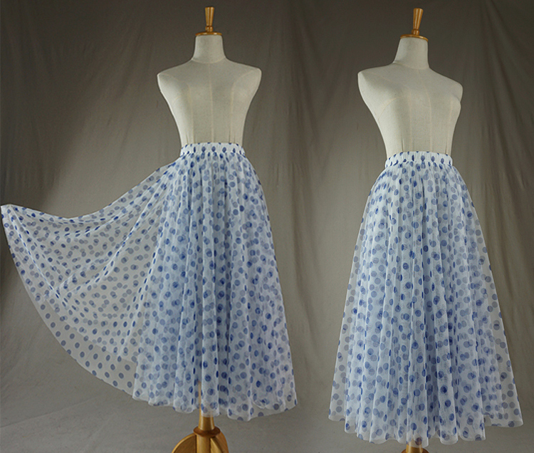 Tulle skirt blue dot 11