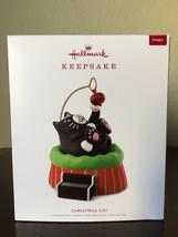 HALLMARK 2018 Keepsake Ornament CHRISTMAS CAT New SHIP FREE Solar Motion - $49.99