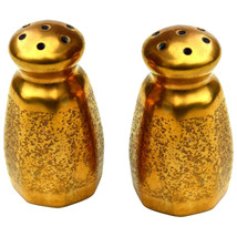 Set of Piccard China Rose & Daisy Gold Salt & Pepper Shakers - $27.99