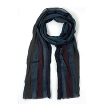 John Varvatos Collection Men's Striped Fringe Fashion Wool Scarf Italy B... - $98.12