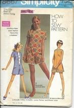 SIMPLICITY VINTAGE 1969 PATTERN 8667 SIZE 13jp JUNIOR PETITE MINI PANTDRESS - $3.90