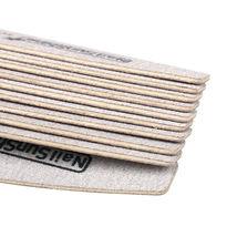 Sandpaper Nail Art Files Grey Wooden Sanding Nail Buffer Curved 50Pcs 100/180 image 5
