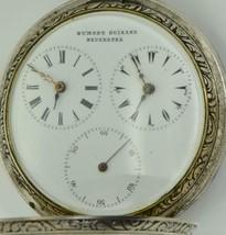UNIQUE antique Ottoman silver 2 time zones Captain Dumont Guinand watch.... - $9,900.00