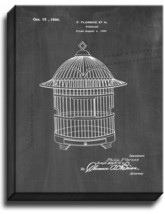 Birdcage Patent Print Chalkboard on Canvas - $39.95+