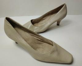 Aerosoles Cheerful Womens Beige Patent Suede Crocodile Print Closed Toe ... - $29.02