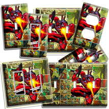 Deadpool Superhero Comics Book Page Light Switch Outlet Wall Plate Room Hd Decor - $10.99+