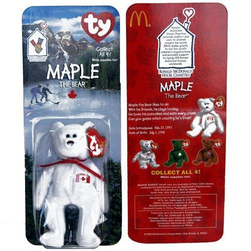 f27f06e5cac 61pwjkmwb9l. sl1500. 61pwjkmwb9l. sl1500. Maple Canadian Bear - McDonald s  Ty Teenie Beanie MIP - 1999