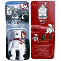 Maple Canadian Bear - McDonald's Ty Teenie Beanie MIP - 1999  - $10.00