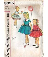 1950's DRESS Pattern 3095-s Child Size 6 Uncut - $9.99