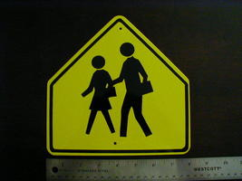 "Mini Miniature School Traffic Signs Metal 8"" - $5.00"