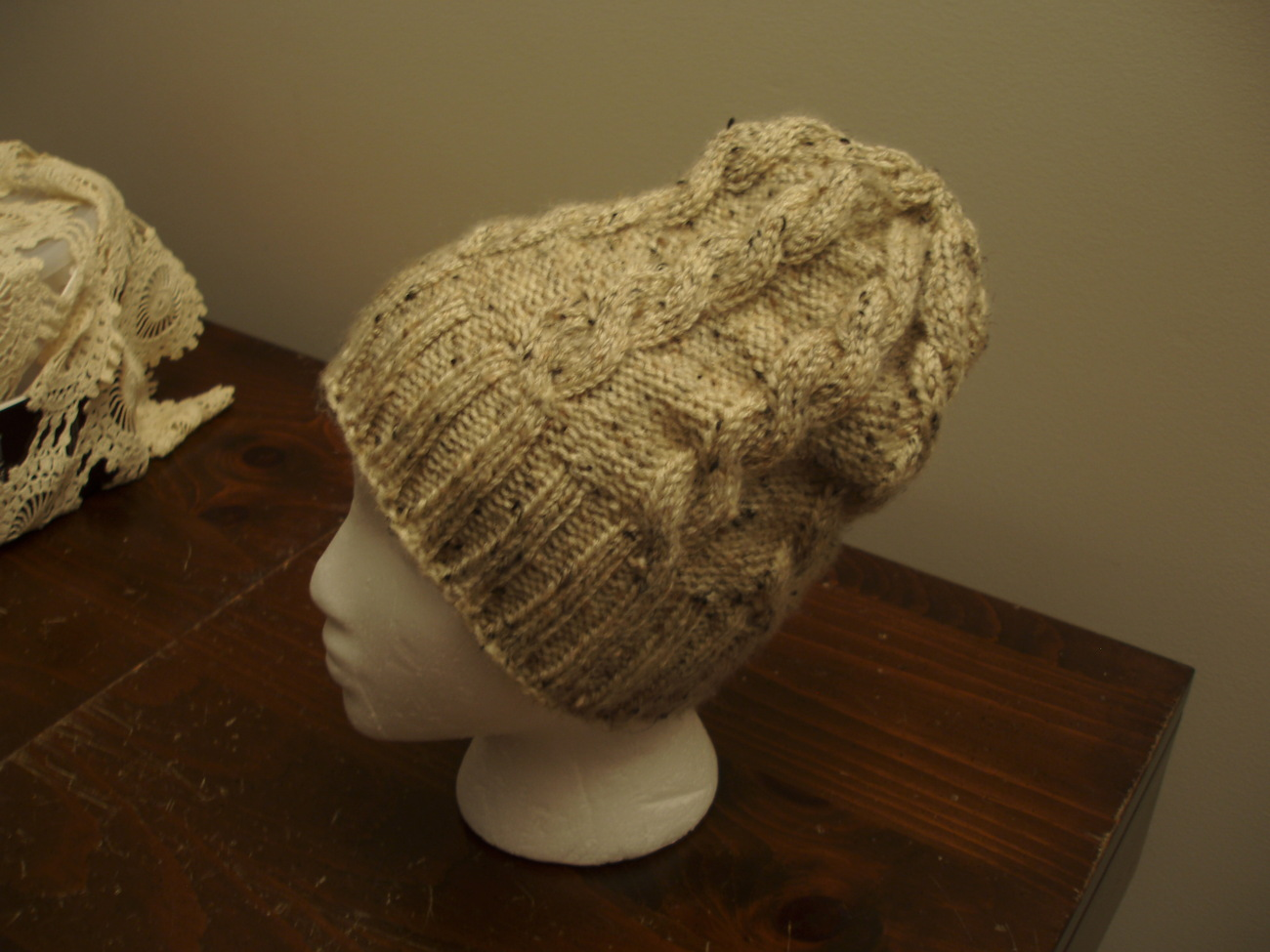 Hat Cable knit Pattern Only