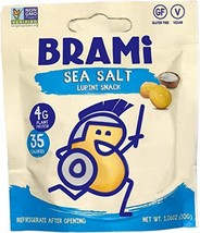 BRAMI Lupini Beans Snack, Sea Salt | 1.06 oz 36 Count | 4g Plant Protein, 0g Net