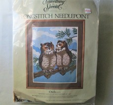 Vintage Something Special Owls Long Stitch Needlepoint kit by Candamar Designs - $19.75