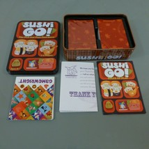 Sushi Go Pick & Pass Card Game Party Gamewright w/ Tin Complete Barely Used - $14.50