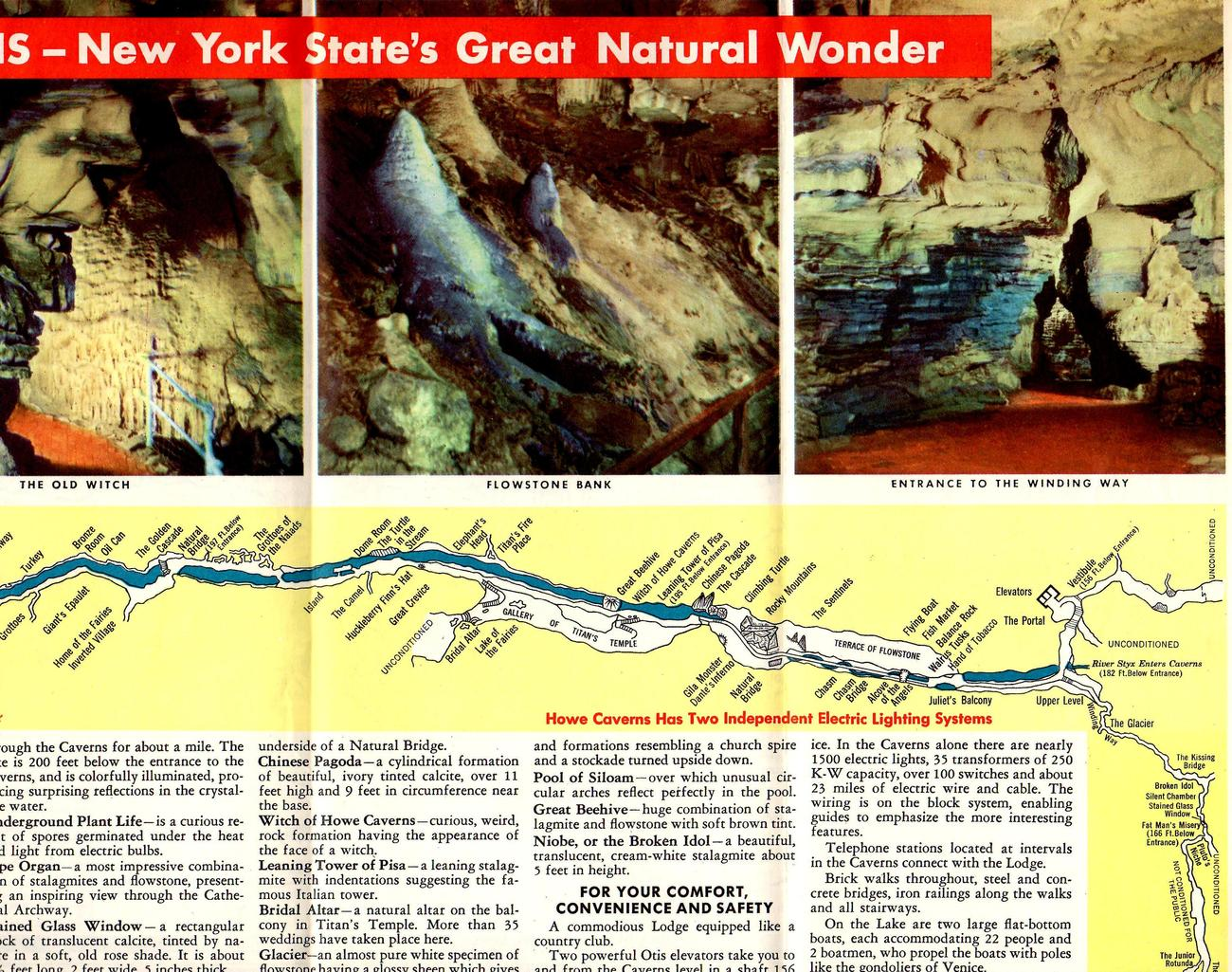 Howe Caverns -(1940) Interstate Road Guide- New York State