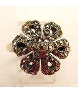 MARCASITE STERLING DECO RING - $45.00