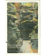 The Path in Witches Gulch, Dells of the Wisconsin River, 1934 used Postc... - $6.77