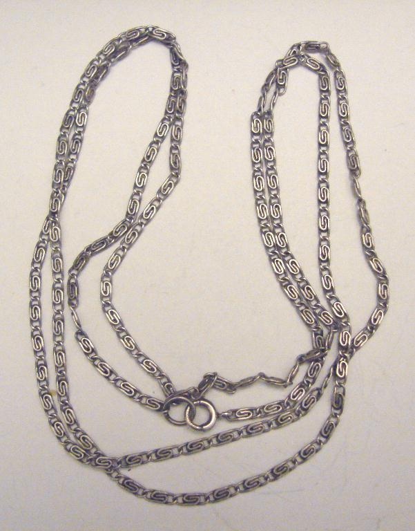 "VINTAGE STERLING ""S"" LINK CHAIN"