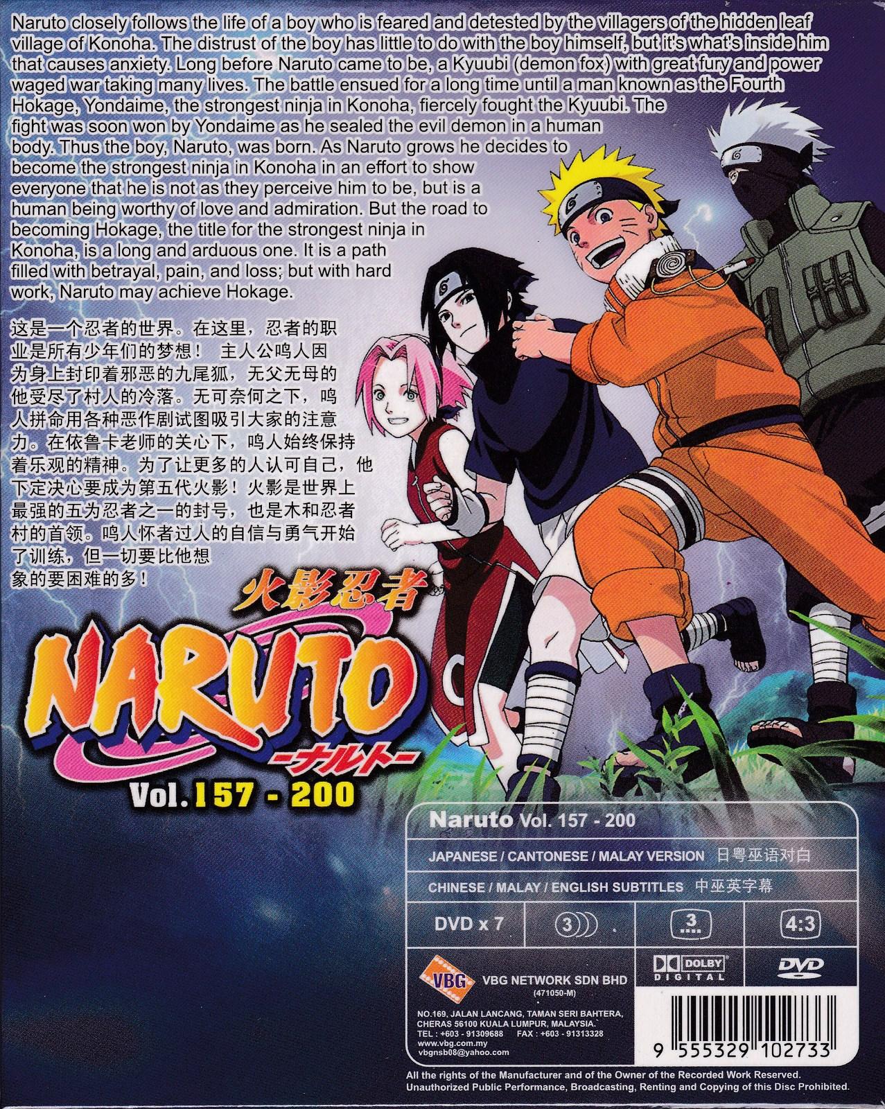 DVD ANIME NARUTO Season 4-5 Vol.157-200 Box Set 44 Episode