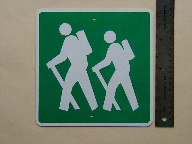 MINI MINIATURE HIKERS TRAFFIC SIGNS METAL  8""