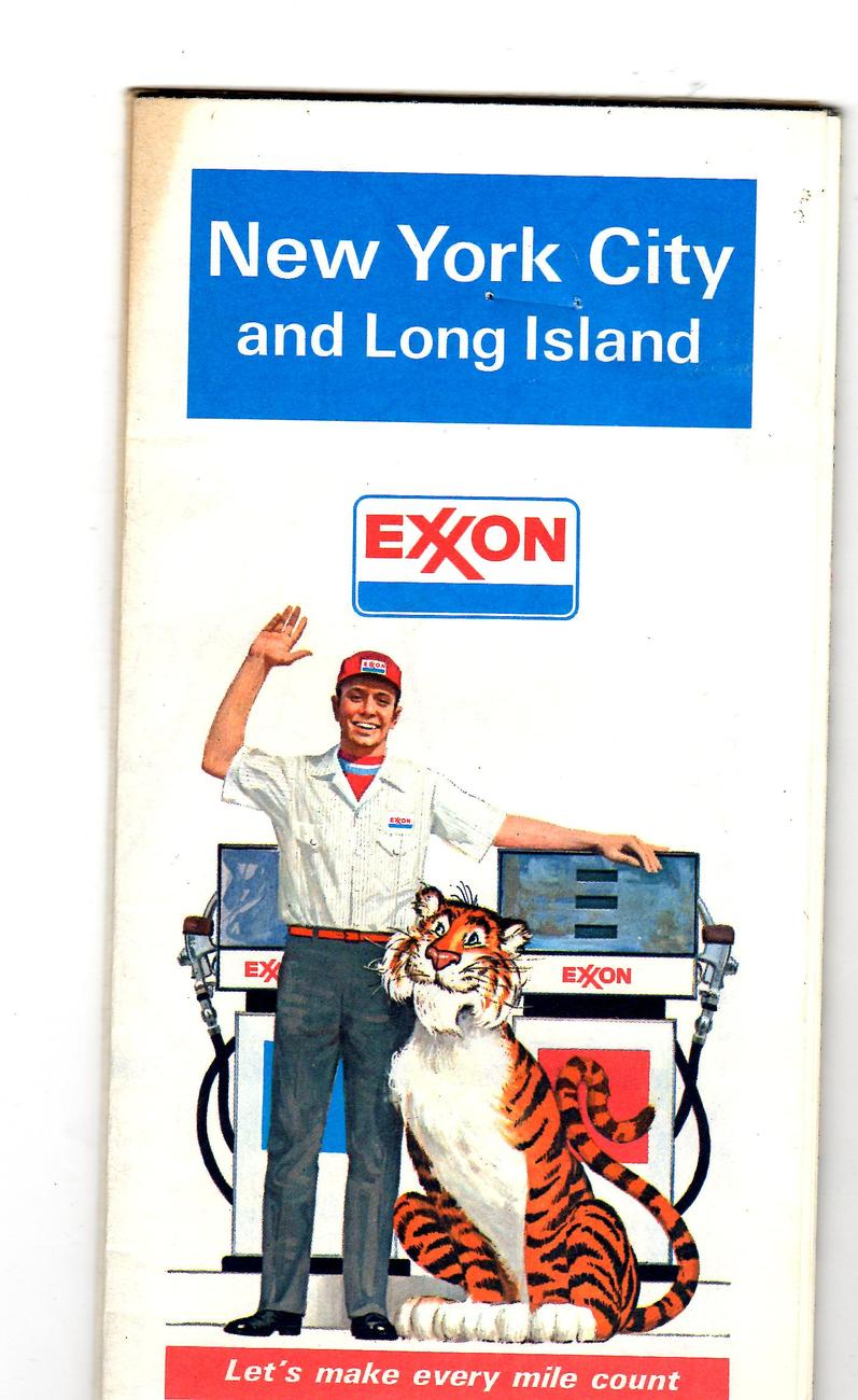 New York City and Long Island, Maps- 1981- Exxon- (2 Maps)