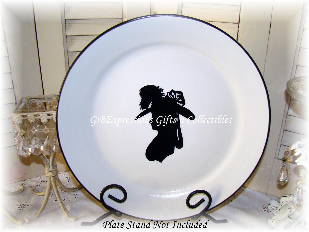 Victorian Decorative Silhouette Plate
