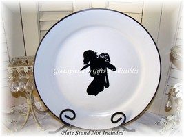 Plate with vic lady silhouette closeup thumb200