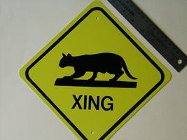 Mini Miniature Cat Traffic Signs - $5.00