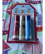 3 Pack Blistex Holiday Coll. Raspberry Rudolph Caramel Comet Blueberry B... - $6.74