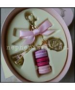 NWB Laduree Paris Macaron Tower Medium Ribbon Key Ring or Bag Charm PINK... - $110.00
