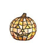 HALLOWEEN PUMPKIN JACK-O-LANTERN TIFFANY STAINED GLASS LAMP(NEW) - £148.16 GBP