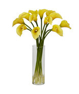 Mini Calla Lily Silk Flower Arrangement - $73.17 CAD