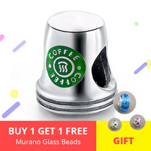 Silver 925 jewelry Fit Authentic Pandora Charms Bracelet Green Coffee Cu... - $24.35