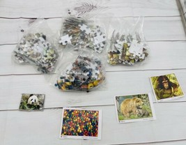Mixed Junk Drawer Lot of 4 New Puzzles (1) 48 & (3) 100 Pc Puzzles NO BOX Q - $14.84
