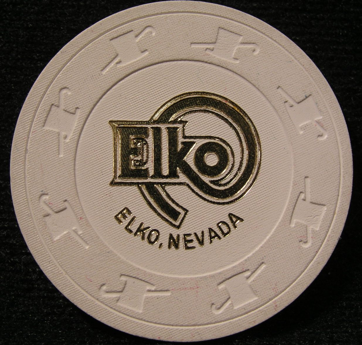 "Primary image for N/D NCV ""Good Luck"" Casino Chip From: City Of Elko, Nevada - (sku#2394)"