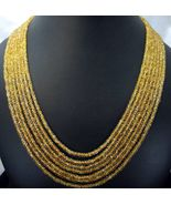 Traditional Natural Golden Citrine 7 Strand Han... - $465.60