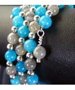 Blue Jade and Labradorite with Sterling Silver ... - $89.28